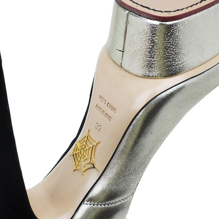 Charlotte Olympia Two Tone Leather Mercury Platform Pumps Size 39 For Sale 6