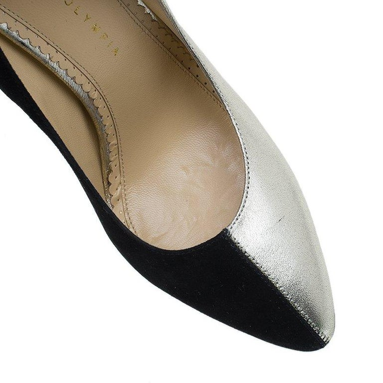 Charlotte Olympia Two Tone Leather Mercury Platform Pumps Size 39 For Sale 4