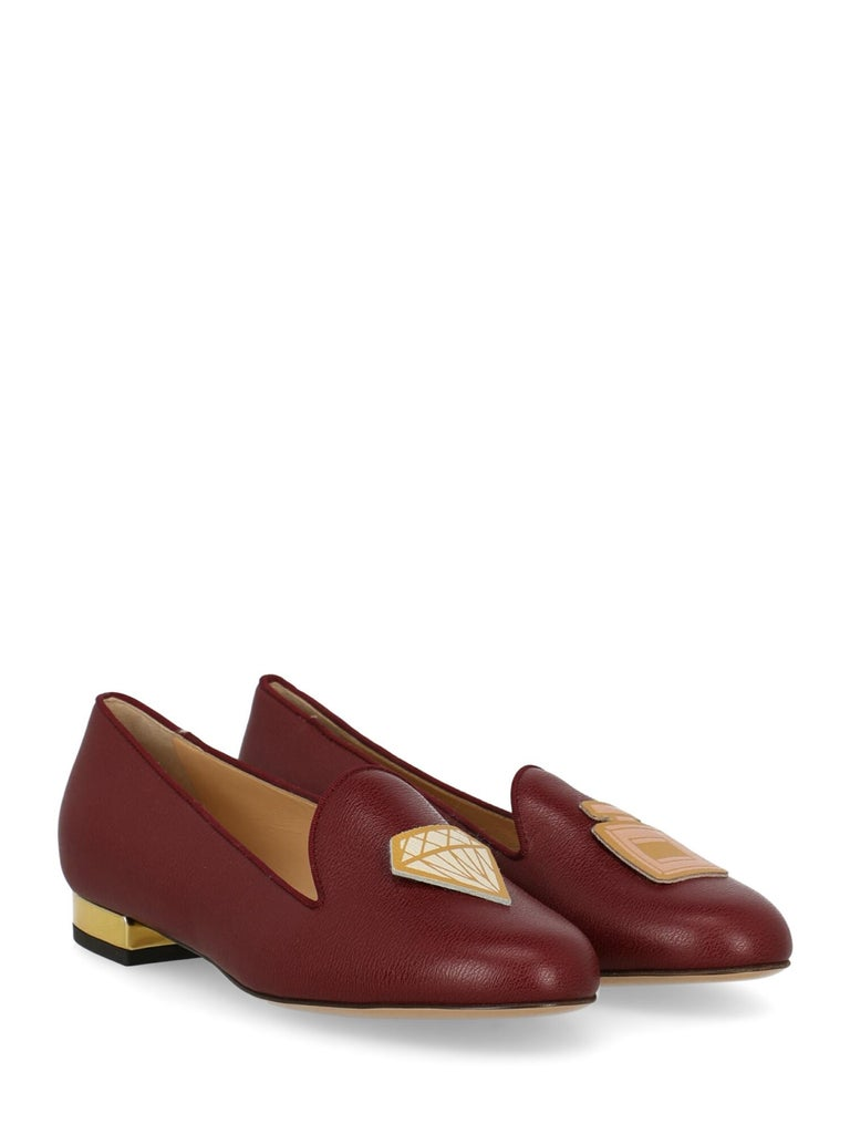In Collaboration with Net à Porter  Shoe, leather, solid color, gold-tone hardware, round toe, branded insole, block heel, low and flat heel.  Includes: - Dust bag  Product Condition: Excellent  Composition: Upper: 100% Leather Sole: 100%