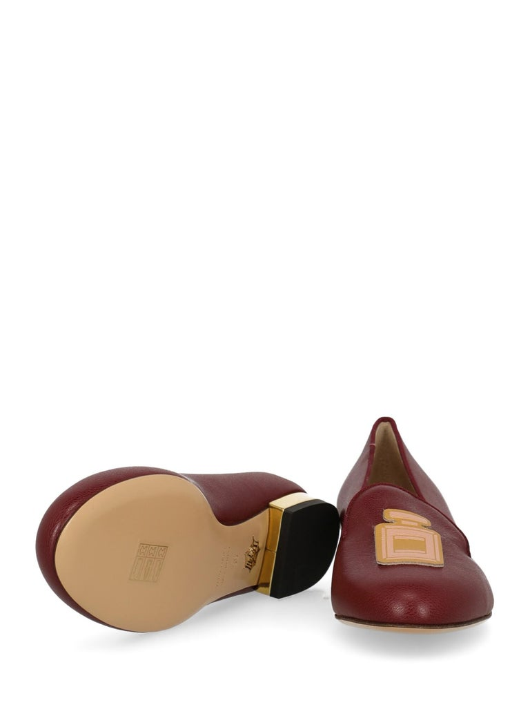 Charlotte Olympia Woman Ballet flats Burgundy Leather IT 36 In Excellent Condition For Sale In Milan, IT