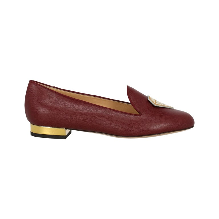Charlotte Olympia Woman Ballet flats Burgundy Leather IT 36 For Sale