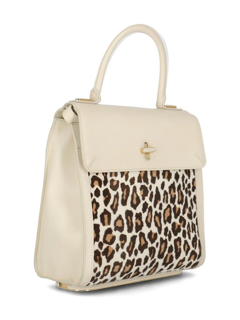 Beige Charlotte Olympia Woman Shoulder bag Brown Leather For Sale