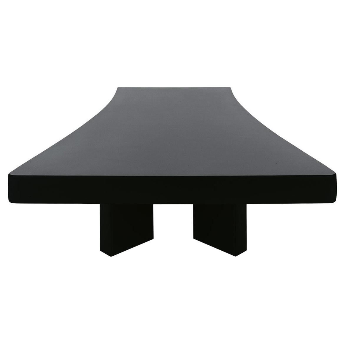 Charlotte Perriand 515 Plana Coffee Table, Black Stained Wood