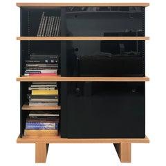 Charlotte Perriand, 526 Nuage A0 Bookcases, Natural Oak and Black Aluminum