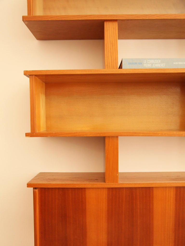 Mid-Century Modern Charlotte Perriand and Pierre Jeanneret Bibliotheque, circa 1954 For Sale