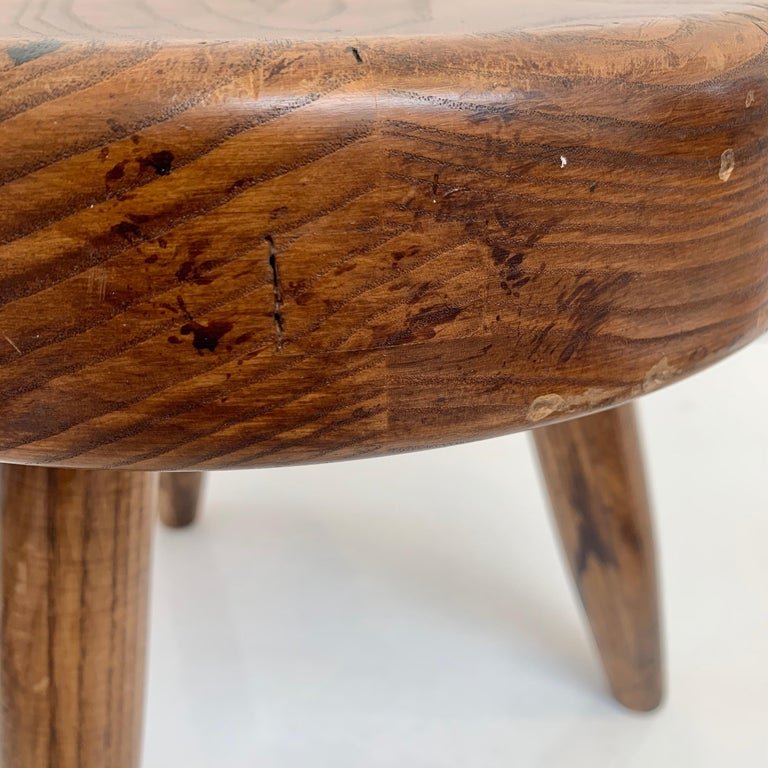 Charlotte Perriand Berger Stool In Good Condition For Sale In Los Angeles, CA