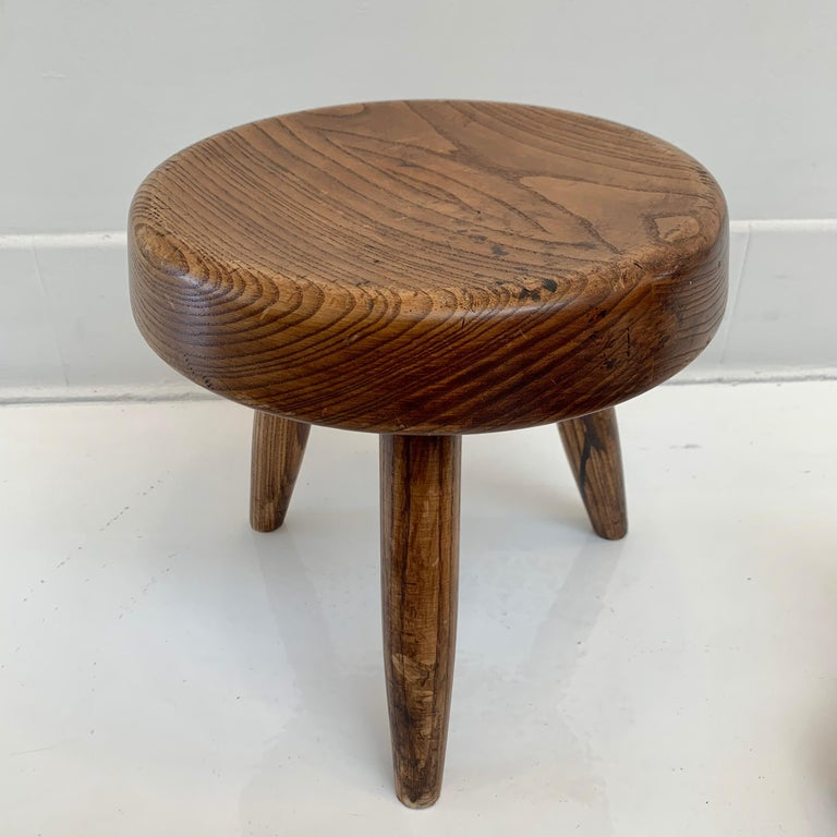 Wood Charlotte Perriand Berger Stool For Sale