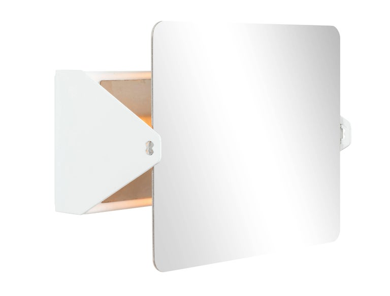 Mid-Century Modern Charlotte Perriand Mirrored 'Applique à Volet Pivotant' Wall Lights For Sale