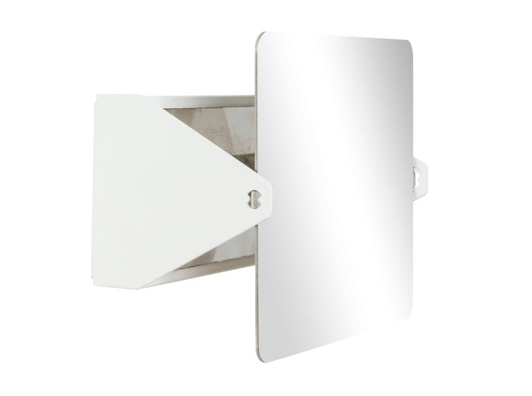 French Charlotte Perriand Mirrored 'Applique à Volet Pivotant' Wall Lights For Sale