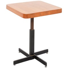 Charlotte Perriand for Les Arcs Mid-Century Modern Adjustable Square Table