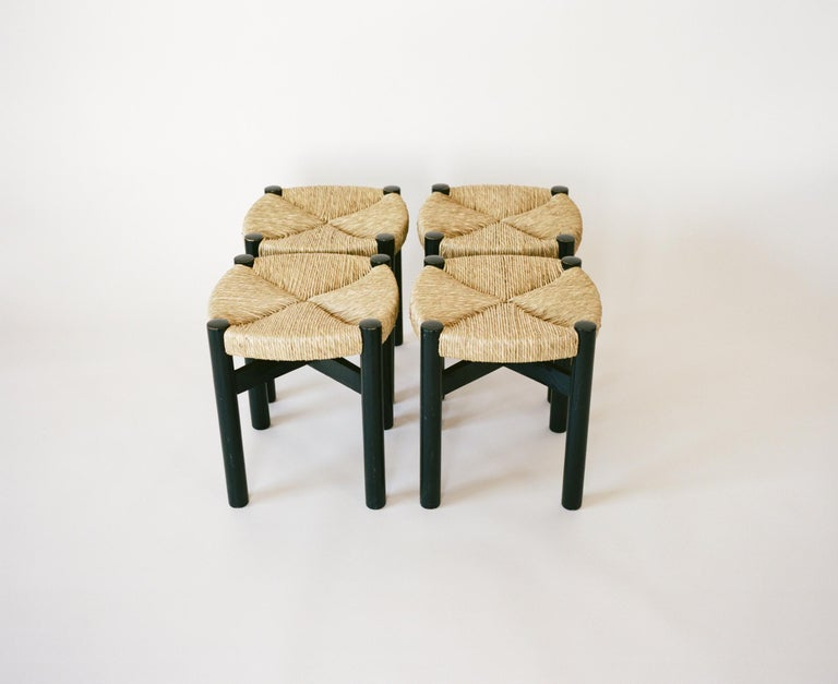 French Charlotte Perriand, Four Stools, circa 1948