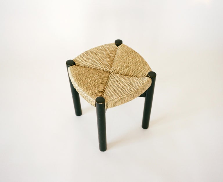 Rattan Charlotte Perriand, Four Stools, circa 1948