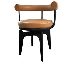 Charlotte Perriand, Indochine Chair, Leather and Black Stained Ash