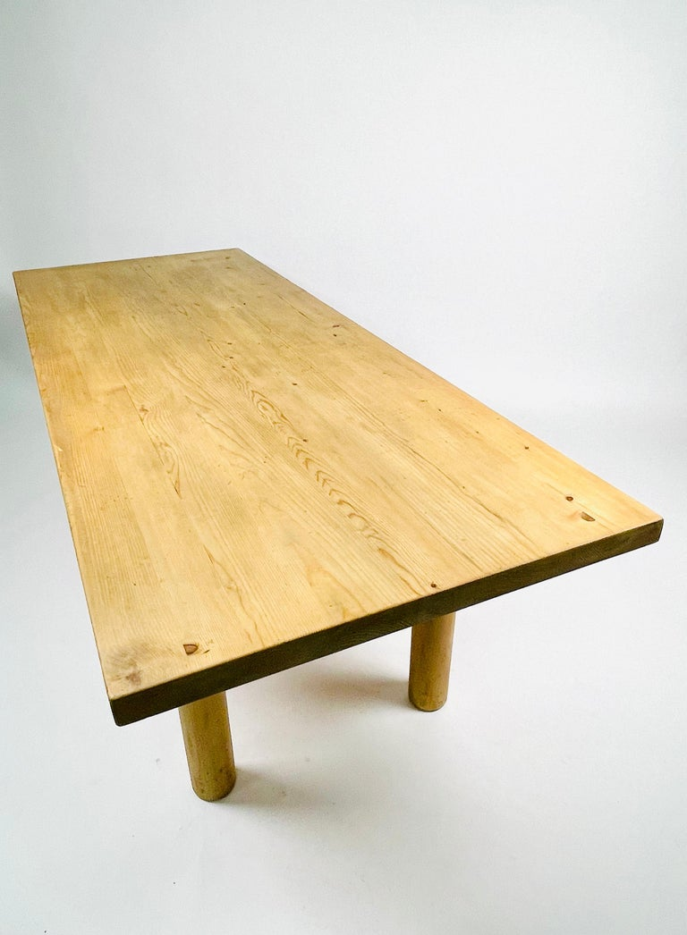 Charlotte Perriand, Large & Rare Pine Table from Méribel, France 1950. For Sale 4