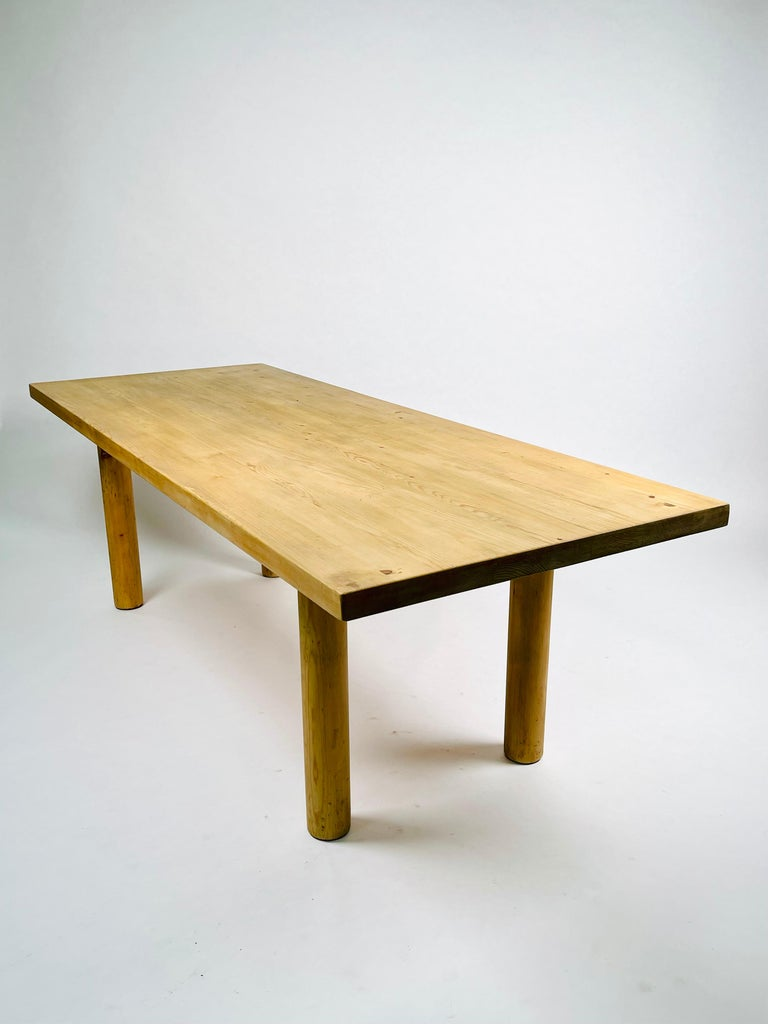 Charlotte Perriand, Large & Rare Pine Table from Méribel, France 1950. For Sale 5
