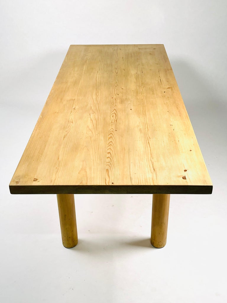 Charlotte Perriand, Large & Rare Pine Table from Méribel, France 1950. For Sale 6
