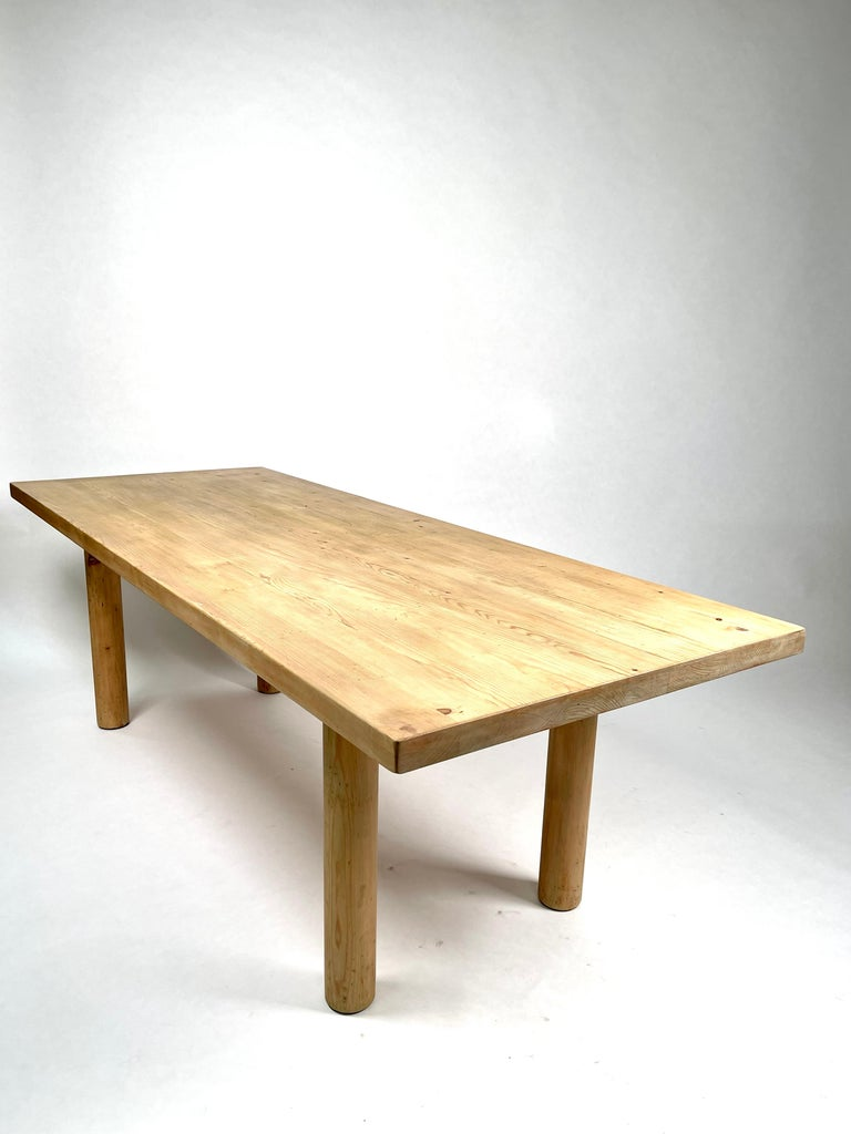 Charlotte Perriand, Large & Rare Pine Table from Méribel, France 1950. For Sale 8