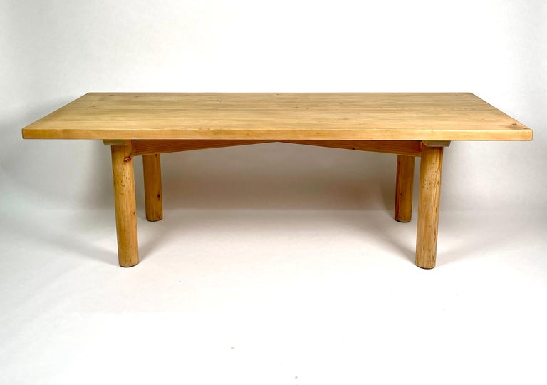 Charlotte Perriand, Large & Rare Pine Table from Méribel, France 1950. For Sale 10