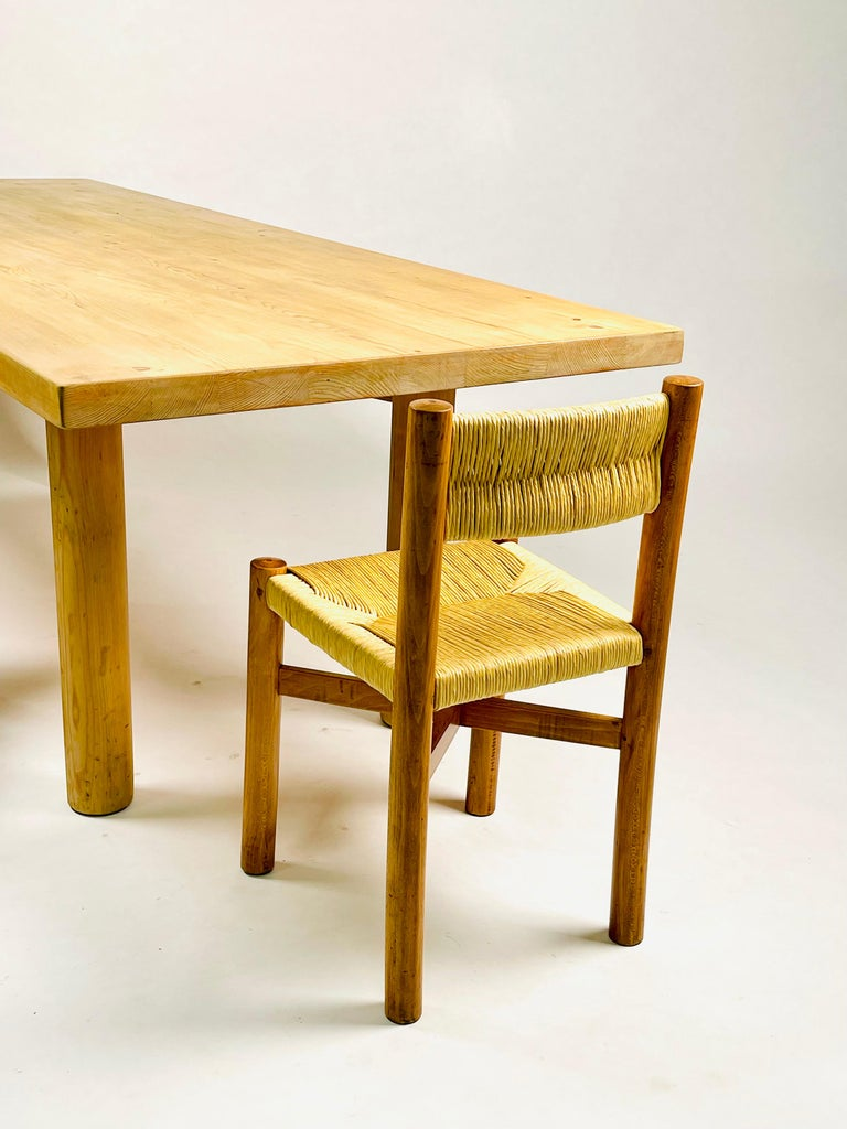 Charlotte Perriand, Large & Rare Pine Table from Méribel, France 1950. For Sale 11