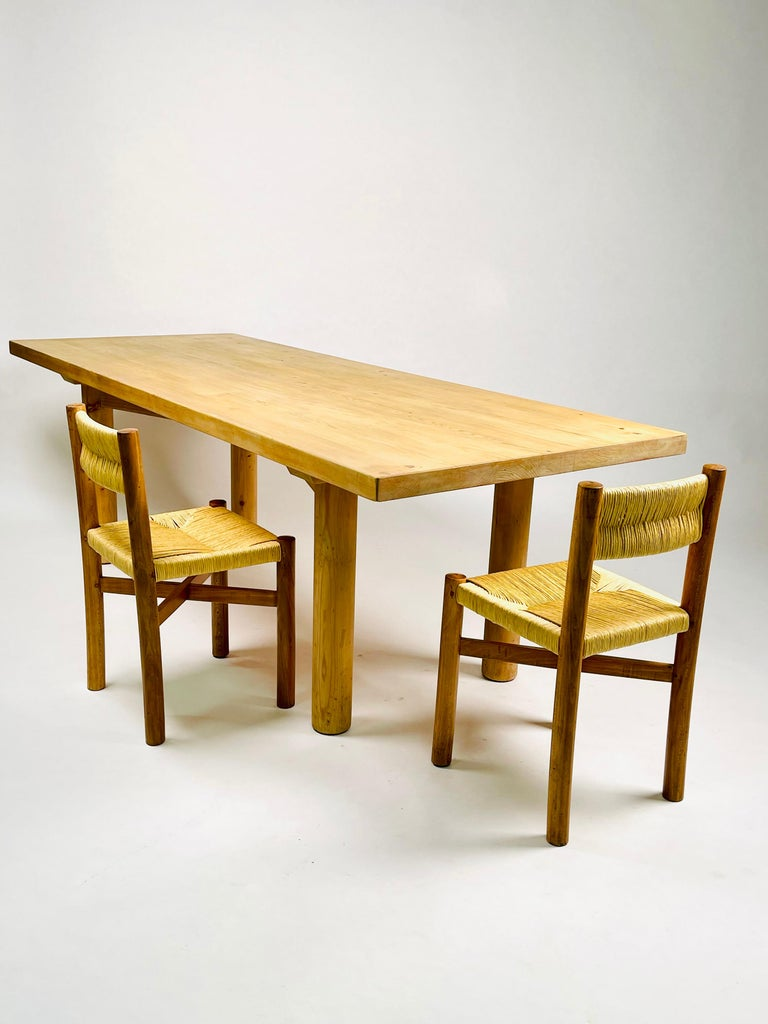 Charlotte Perriand, Large & Rare Pine Table from Méribel, France 1950. For Sale 12
