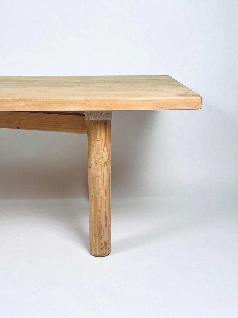 Mid-Century Modern Charlotte Perriand, Large & Rare Pine Table from Méribel, France 1950. For Sale