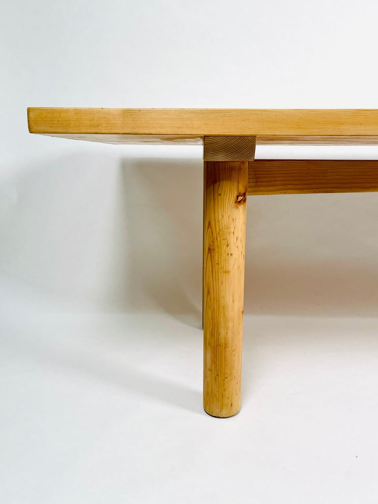 French Charlotte Perriand, Large & Rare Pine Table from Méribel, France 1950. For Sale