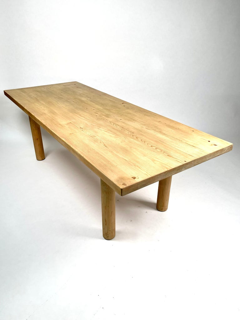 Mid-20th Century Charlotte Perriand, Large & Rare Pine Table from Méribel, France 1950. For Sale