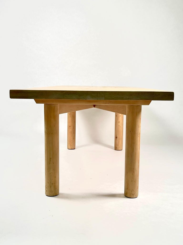 Charlotte Perriand, Large & Rare Pine Table from Méribel, France 1950. For Sale 1