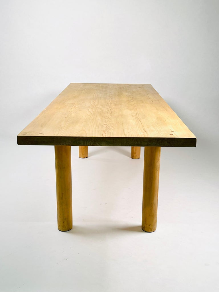 Charlotte Perriand, Large & Rare Pine Table from Méribel, France 1950. For Sale 2