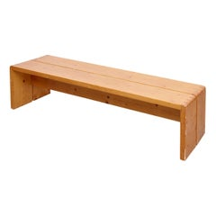 Charlotte Perriand, Large Wood Bench for Les Arcs, circa 1960