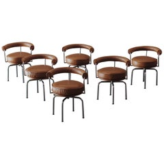 "Charlotte Perriand ""LC7"" Dining Chairs for Cassina, 1927, Set of 6"
