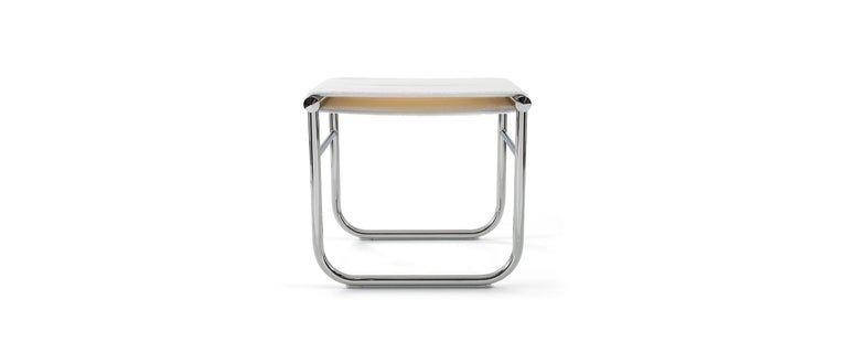 Stool designed by Charlotte Perriand in 1927. Relaunched by Cassina in 1973/2014. Manufactured by Cassina in Italy.  Designed by Charlotte Perriand and part of the LC collection by Le Corbusier, Pierre Jeanneret and Charlotte Perriand.  A stool