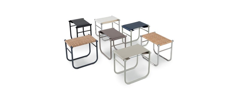 Italian Charlotte Perriand LC9 Stool by Cassina For Sale