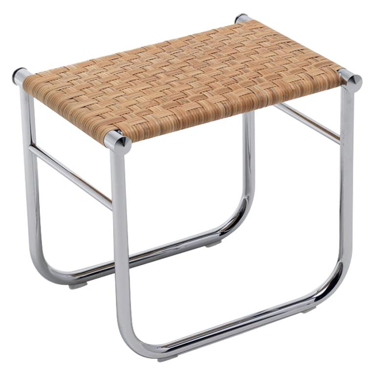 Charlotte Perriand LC9 Stool, Rattan and Metal