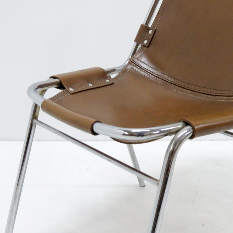 """""""Les Arc"""" Chairs Selected by Charlotte Perriand For Sale 4"""