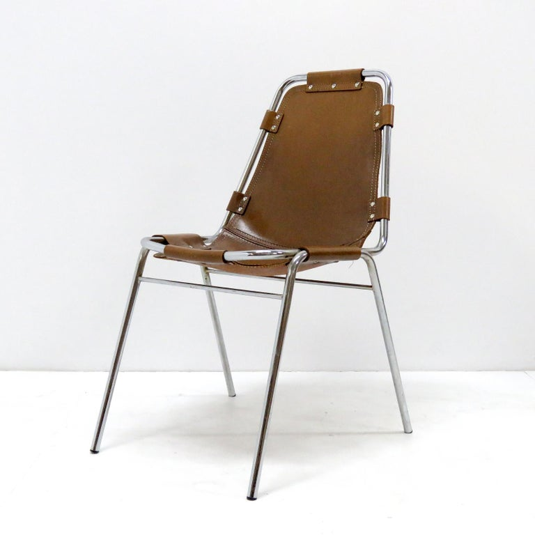 """Italian """"Les Arc"""" Chairs Selected by Charlotte Perriand For Sale"""