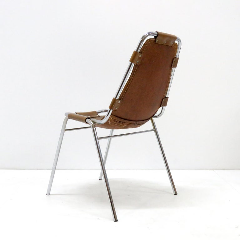 """20th Century """"Les Arc"""" Chairs Selected by Charlotte Perriand For Sale"""
