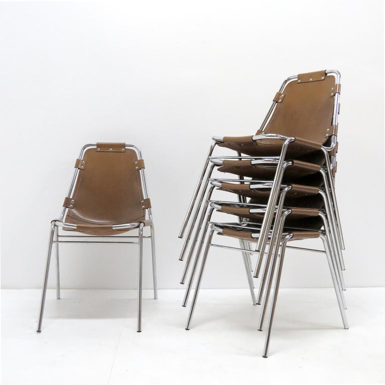 """""""Les Arc"""" Chairs Selected by Charlotte Perriand For Sale 1"""