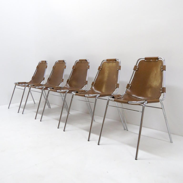 """""""Les Arc"""" Chairs Selected by Charlotte Perriand For Sale 2"""