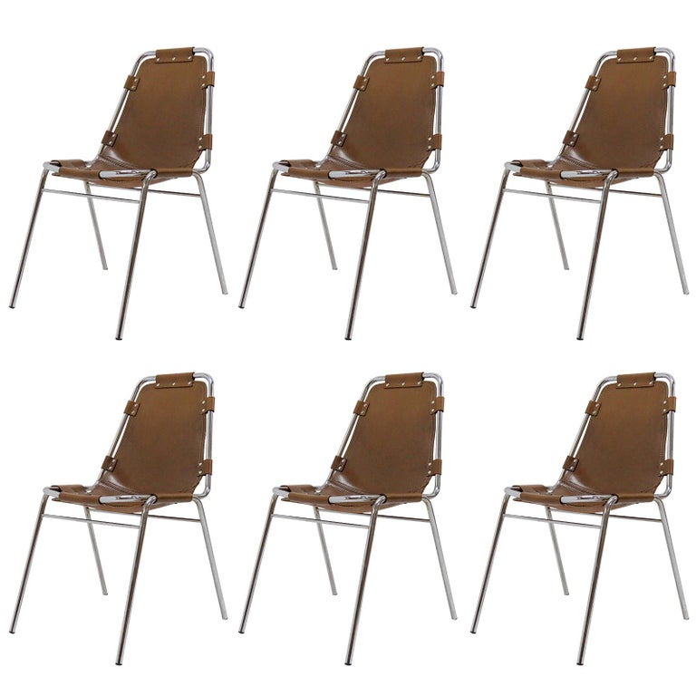 """""""Les Arc"""" Chairs Selected by Charlotte Perriand For Sale"""