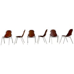 "Charlotte Perriand ""Les Arcs"" Dining Chairs by Cassina, 1965, Set of 6"