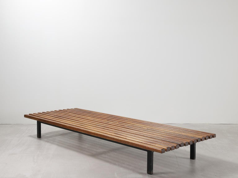 Charlotte Perriand, Low bench, from Cité Cansado, Cansado, Mauritania In Good Condition For Sale In London, Greater London