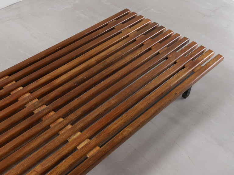 20th Century Charlotte Perriand, Low bench, from Cité Cansado, Cansado, Mauritania For Sale