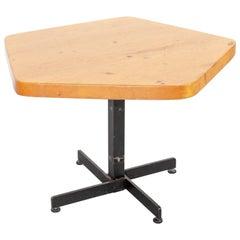 Charlotte Perriand Mid-Century Modern Adjustable Pentagonal Table for Les Arcs