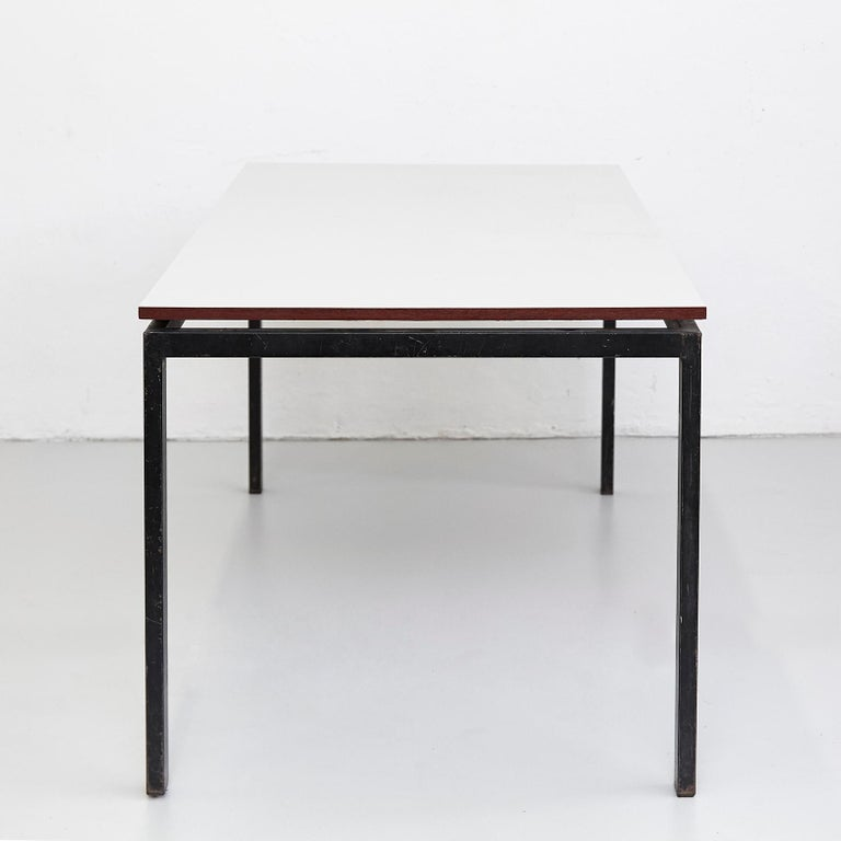 Charlotte Perriand Mid-Century Modern Black and Grey Cansado Table, circa 1950 For Sale 4