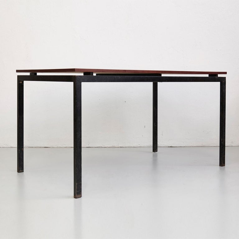 Charlotte Perriand Mid-Century Modern Black and Grey Cansado Table, circa 1950 For Sale 6