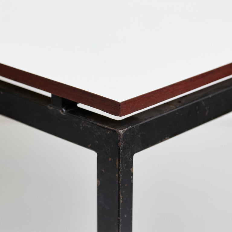 Charlotte Perriand Mid-Century Modern Black and Grey Cansado Table, circa 1950 In Good Condition For Sale In Barcelona, Barcelona