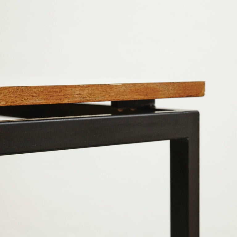 Mid-20th Century Charlotte Perriand Mid-Century Modern Metal and Formica Cansado Table circa 1950 For Sale