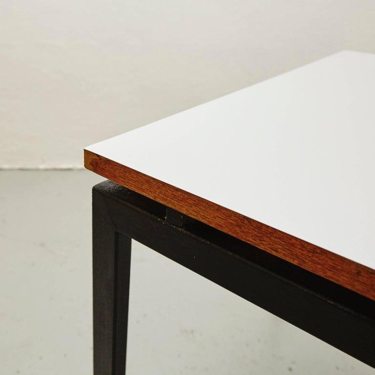 Charlotte Perriand Mid-Century Modern Metal and Formica Cansado Table circa 1950 For Sale 1