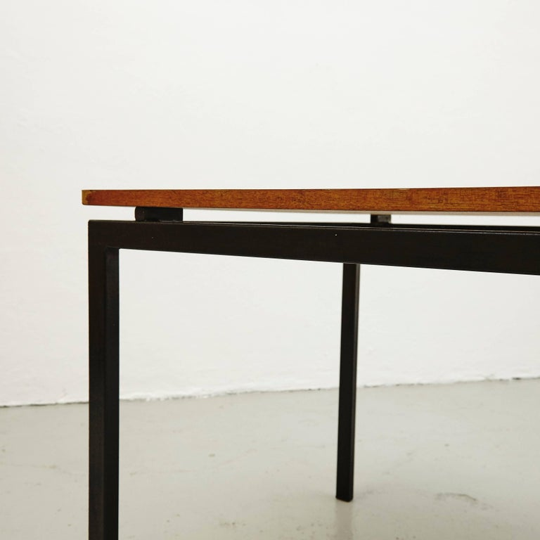 Charlotte Perriand Mid-Century Modern Metal and Formica Cansado Table circa 1950 For Sale 2